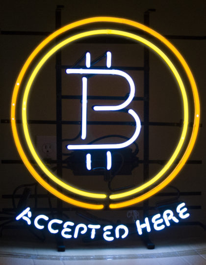 Bitcoin Neon Sign On