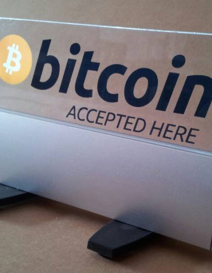 Bitcoin Accepted Here Retail & Register LED Display Sign (Pre-Order)